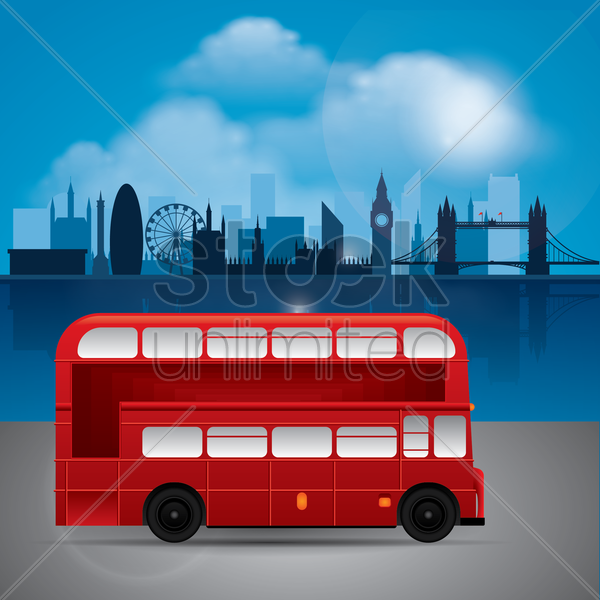 london wallpaper vector graphic