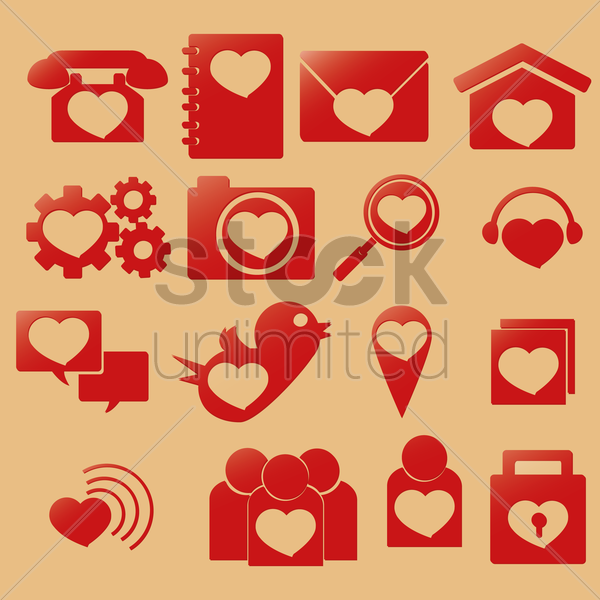 love icons vector graphic