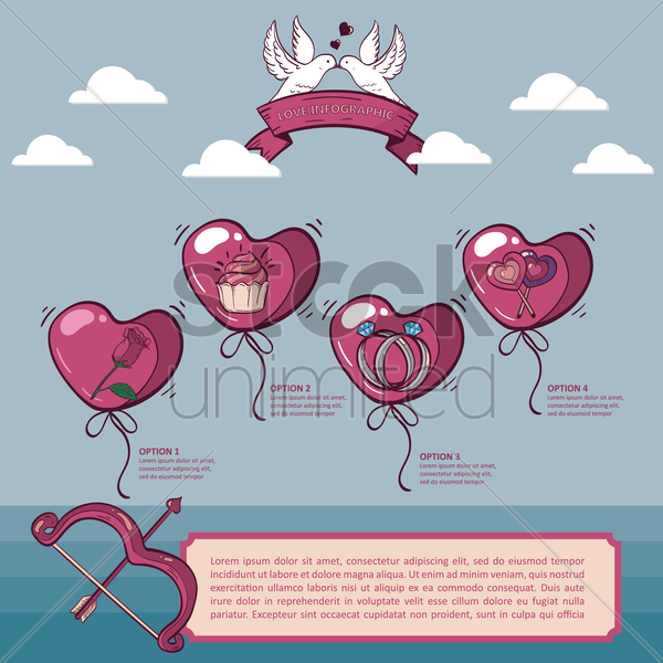 love infographic vector graphic