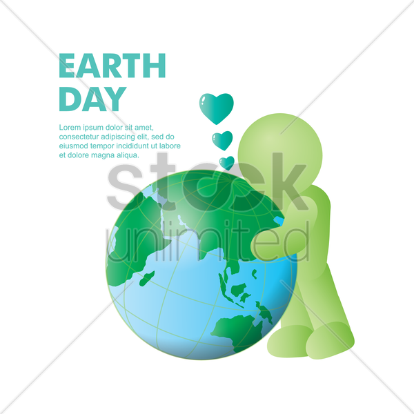 love the earth vector graphic