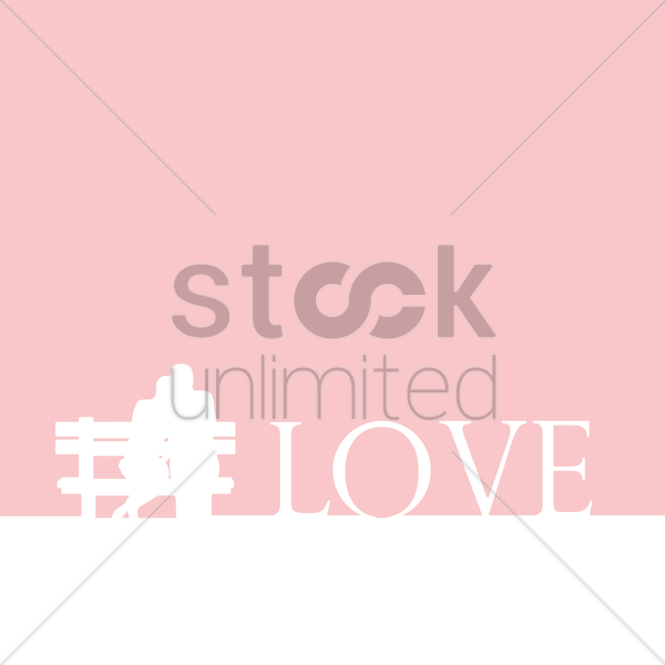 love wallpaper vector graphic
