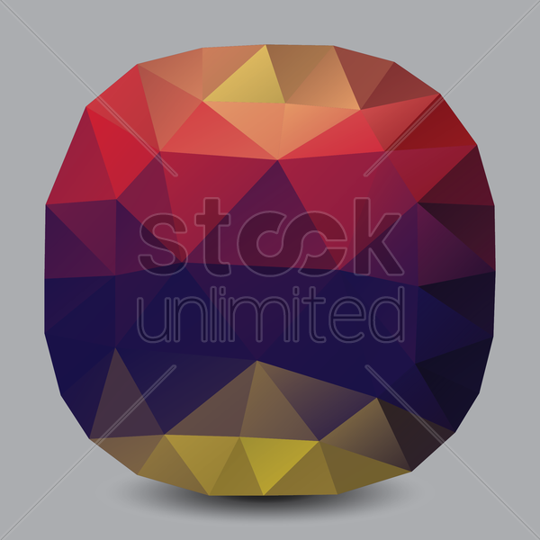 low poly gem vector graphic