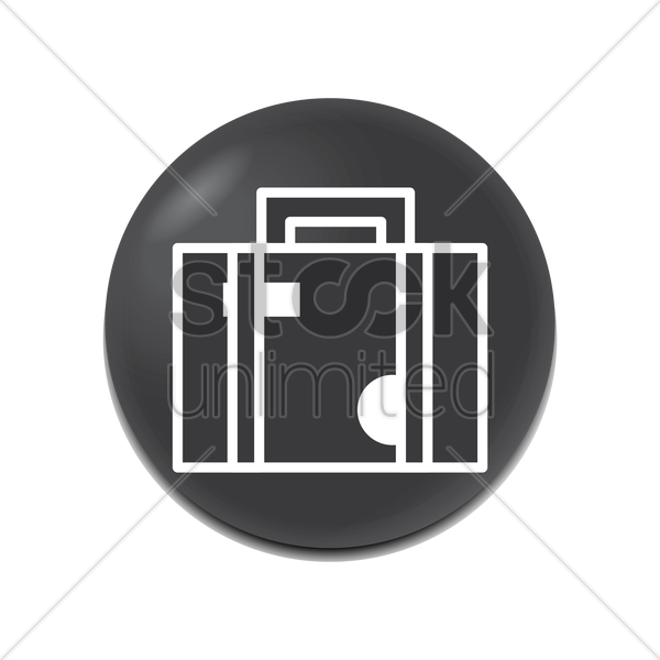 luggage icon vector graphic