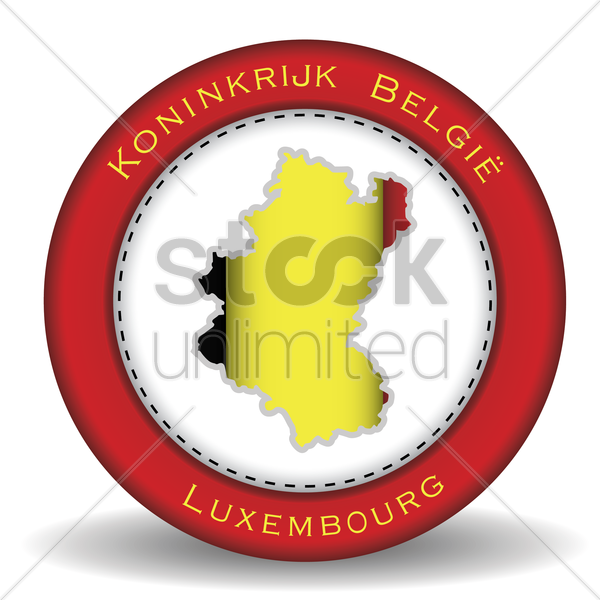 luxembourg map sticker vector graphic