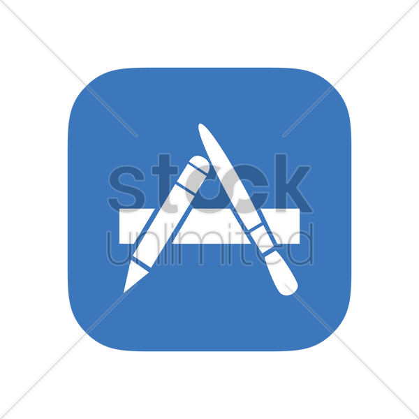 Mac App Store Logo Vector Clipart 1612011 Stockunlimited