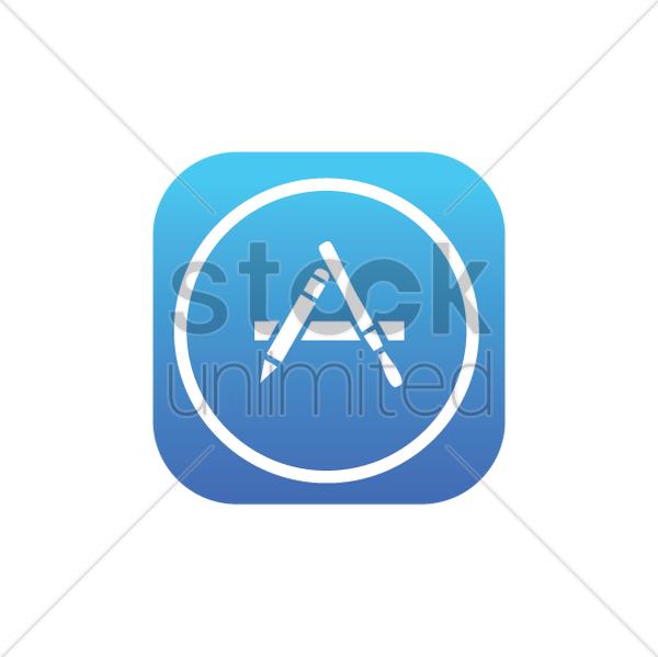 mac app store logo vector clipart 1614321 stockunlimited