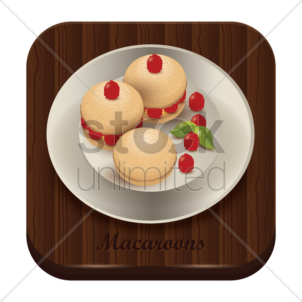 macaroons vector graphic
