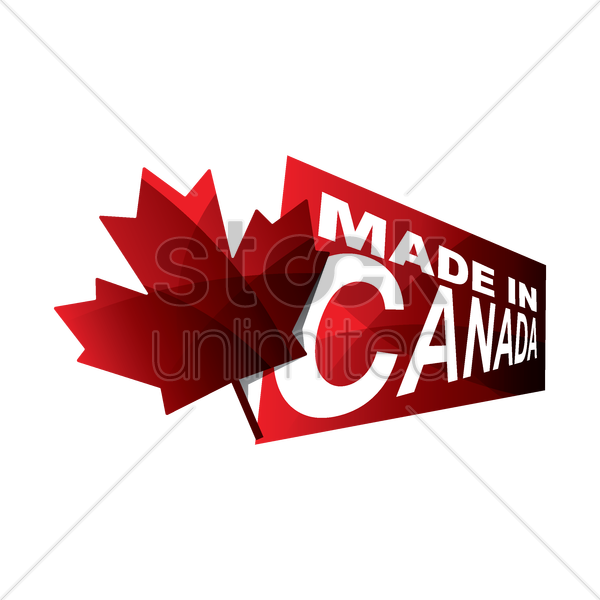 made in canada design vector graphic