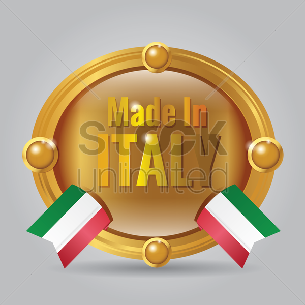 made in italy badge vector graphic