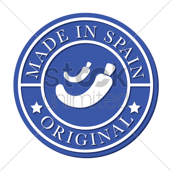 made in spain stamp vector graphic