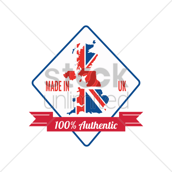 made in uk label vector graphic