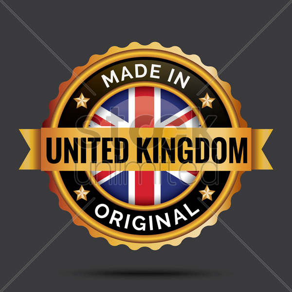 made in united kingdom label vector graphic