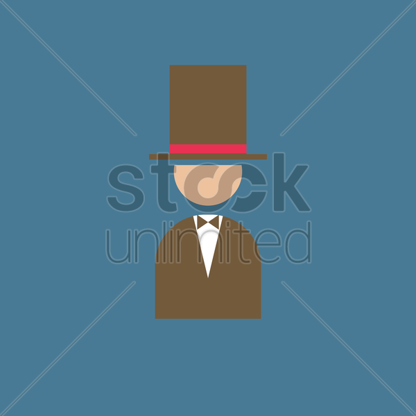 magician vector graphic