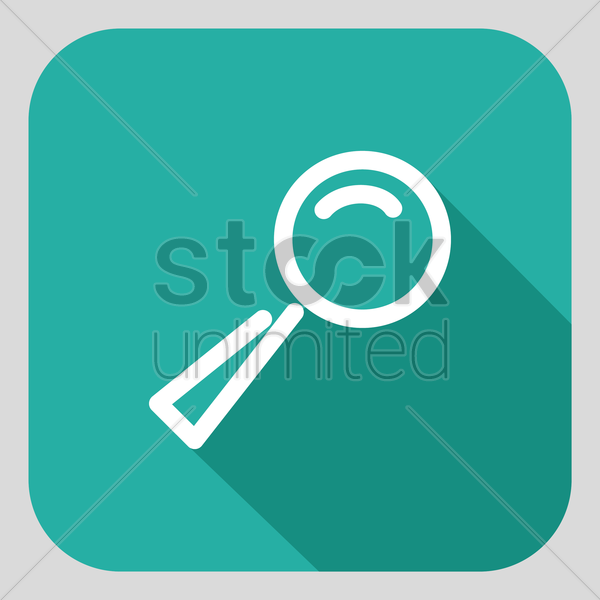 magnifying glass vector graphic