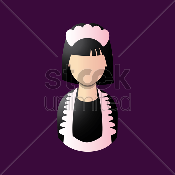 maid vector graphic