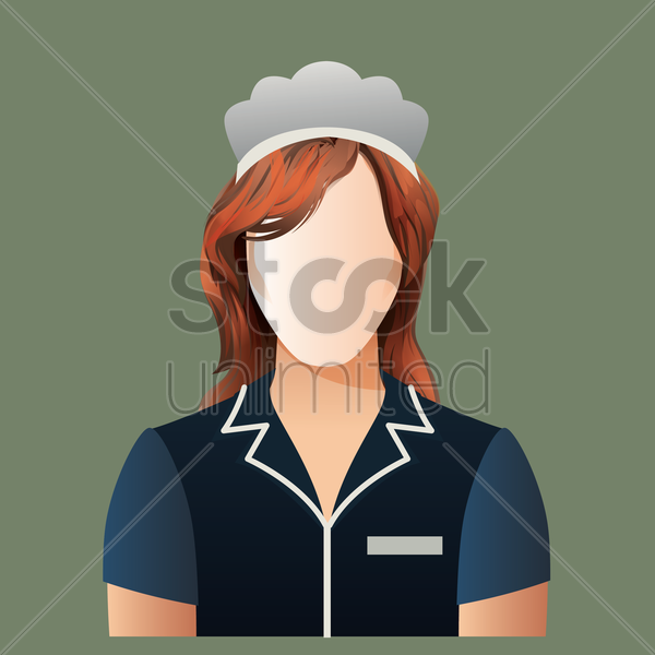 Free maid vector graphic