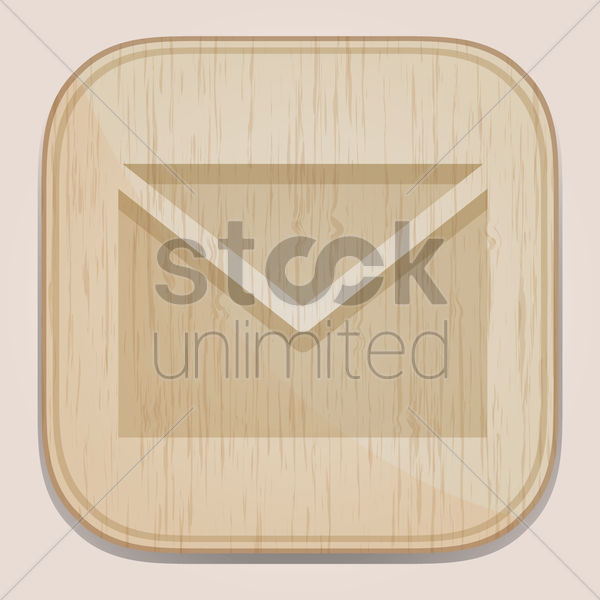 mail button vector graphic