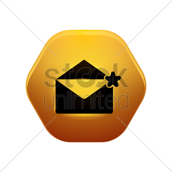 mail favourite icon vector graphic