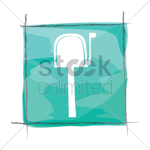 mailbox icon vector graphic