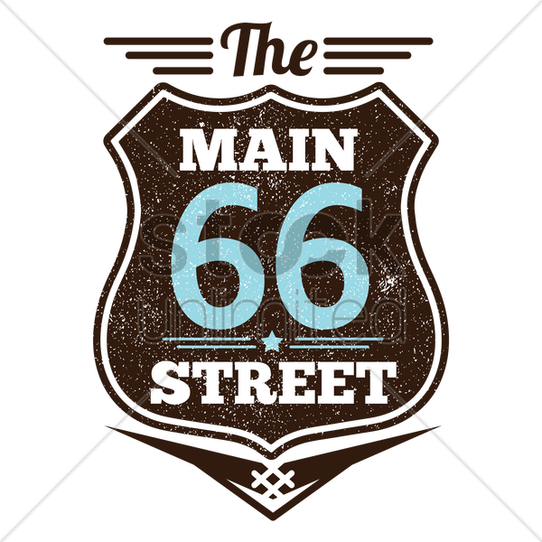 main sixty six street vector graphic