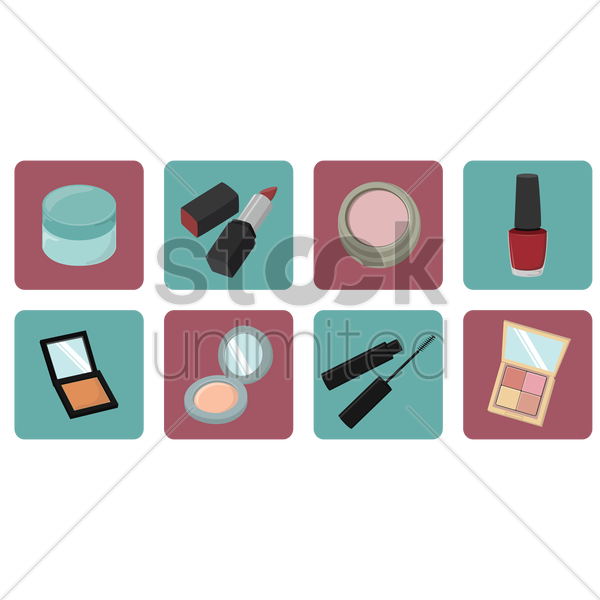 make up icons vector graphic