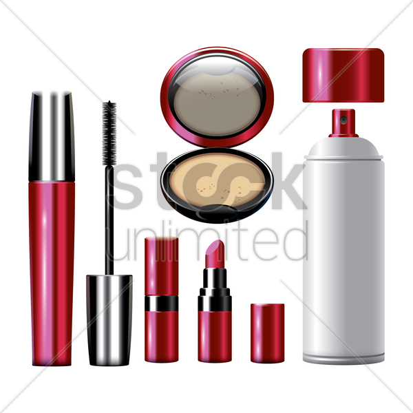 makeup icon set vector graphic