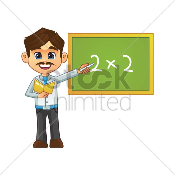 male teacher vector graphic