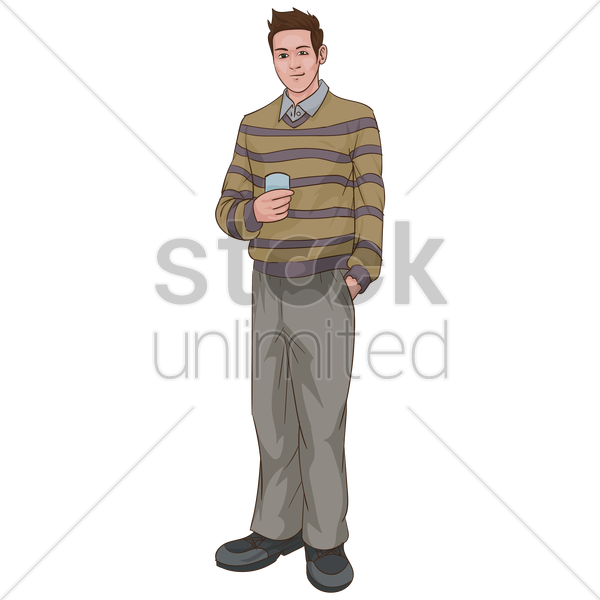 man in casual outfit vector graphic