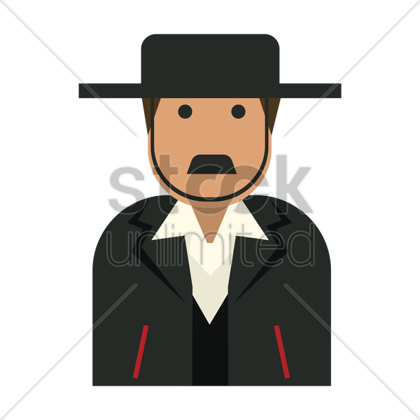 man in traditional attire vector graphic
