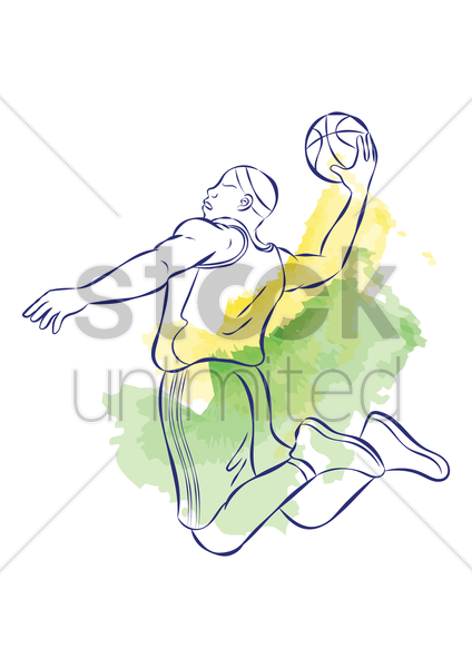 man playing basketball vector graphic
