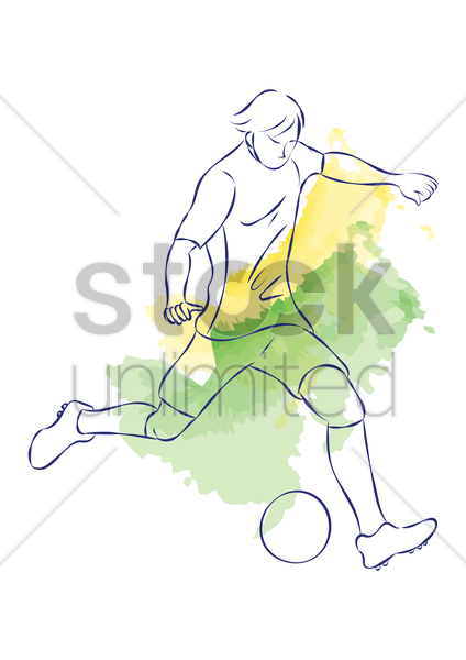 man playing football vector graphic