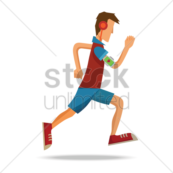 man running vector graphic