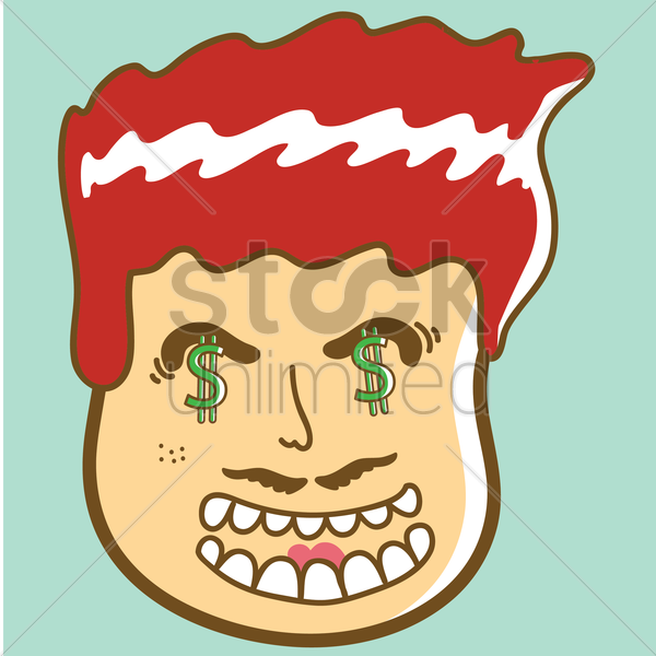 Dollar Man Man With Dollar Sign Eyes