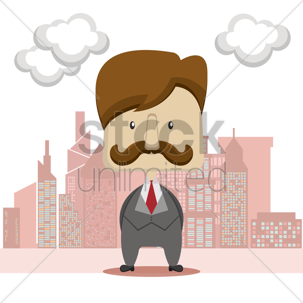 man with mustache vector graphic