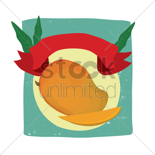 Free mango with copy space vector graphic