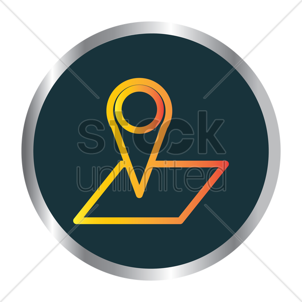 map and map pointer icon vector graphic