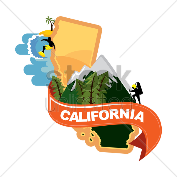 map of california vector graphic