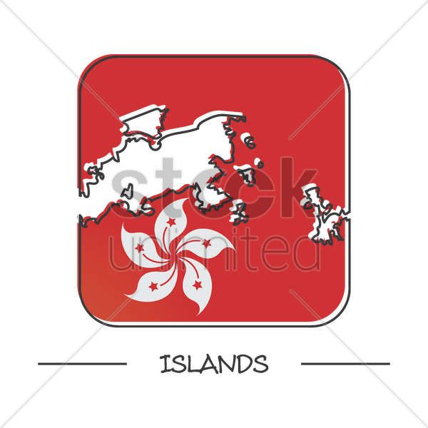 map of islands vector graphic