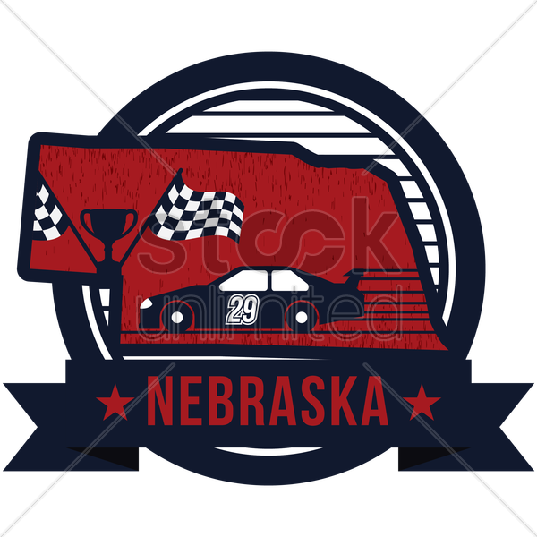 map of nebraska state vector graphic