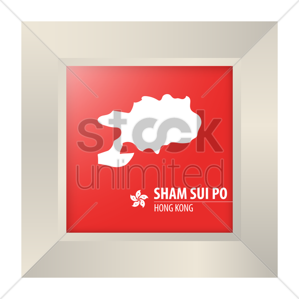 map of sham sui po vector graphic