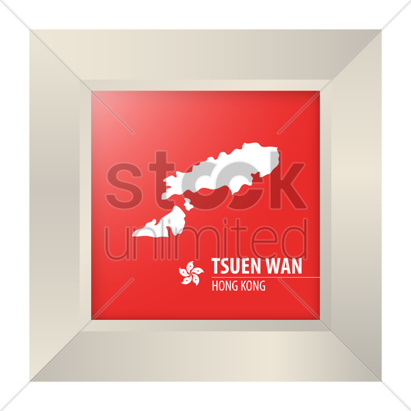 map of tsuen wan vector graphic