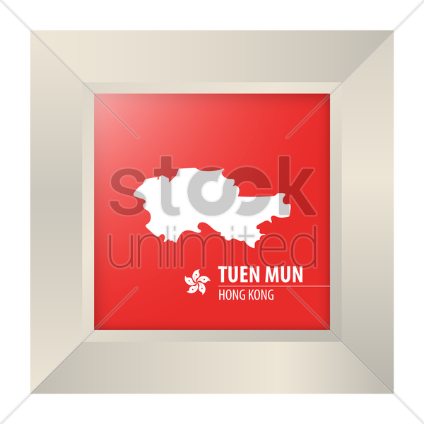 map of tuen mun vector graphic