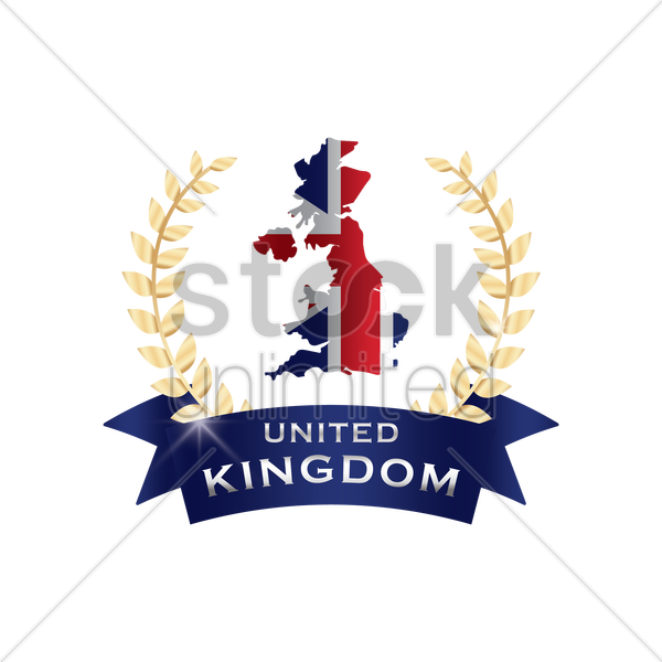 map of united kingdom vector graphic