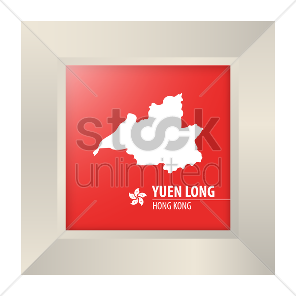 map of yuen long vector graphic