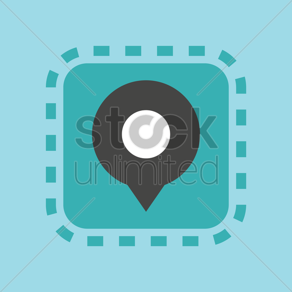 Free map pointer icon vector graphic