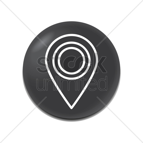 map pointer icon vector graphic