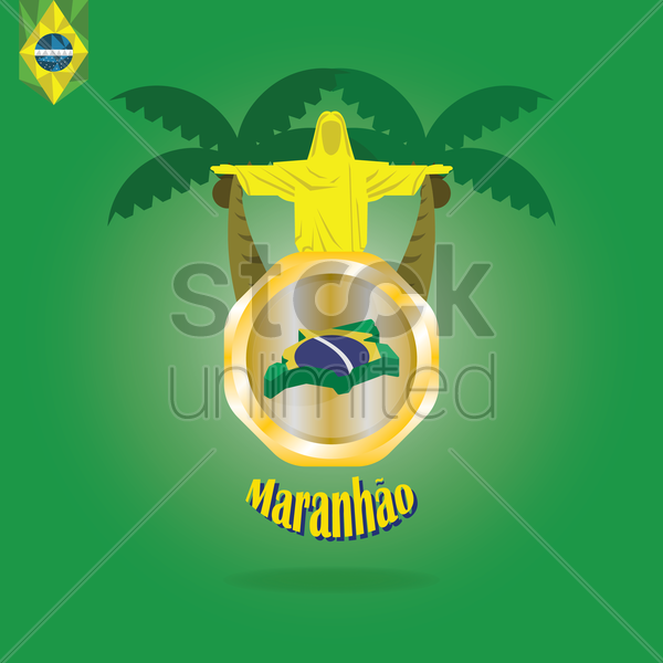 maranhao map wallpaper vector graphic