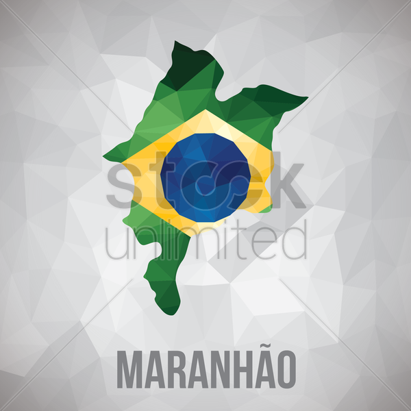 maranhao state map vector graphic