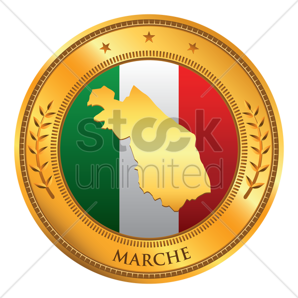 marche map vector graphic