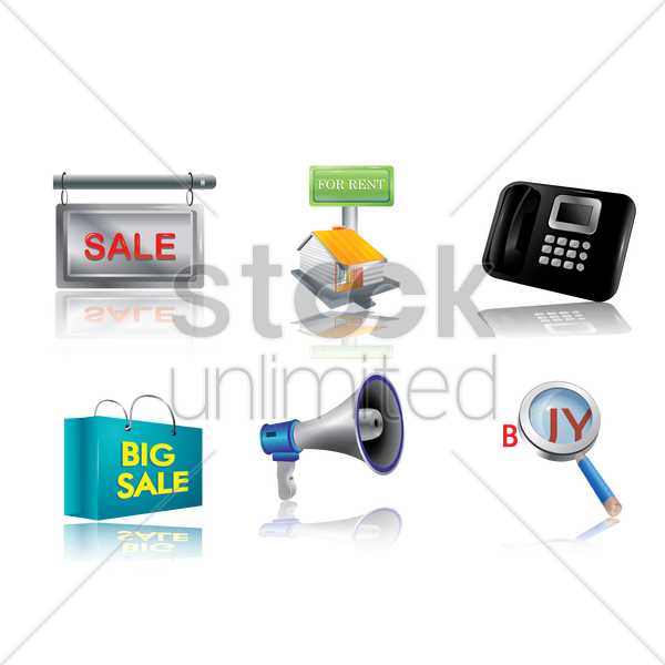 marketing icons vector graphic